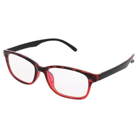 パソコンメガネ クリアサングラス ブルーライト カット サングラス ケース&眼鏡ふき 3点セット  (3ワインレッドF/クリアレンズ)ブルーフィルム
