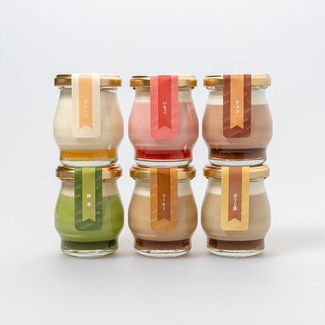 プレーン・コーヒー・ほうじ茶・バニラ・チーズ・キャラメルの6個入りアソートセット