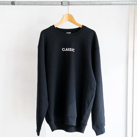 CLASSIC バックプリント スウェット(ブラック / ホワイト)