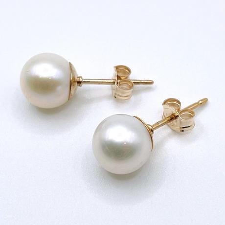 pearl earrings(7㎜)