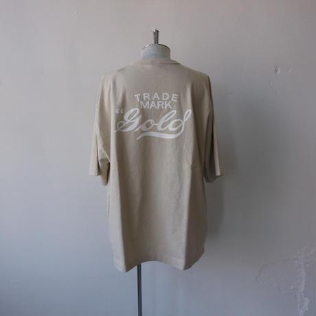 "2021 SPRING/SUMMER. GOLD (ゴールド) HEAVY COTTON BOX TEE ""gold"" PRINTED/GL78662/プリント Tシャツ"