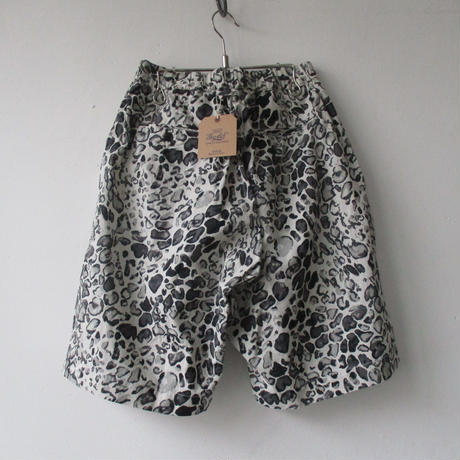 【SALE】2020 Spring & Summer GOLD/ゴールド TILE LEOPARD COTTON SLAB WIDE SHORTS-GL-51893-/レオパード  ショーツ