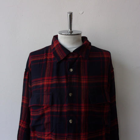 2021-SPRING&SUMMER. FIVE BROTHER + niche.(ニッチ) #Rayon Check Square Shirts/S21-itws-10/レーヨン チェック シャツ