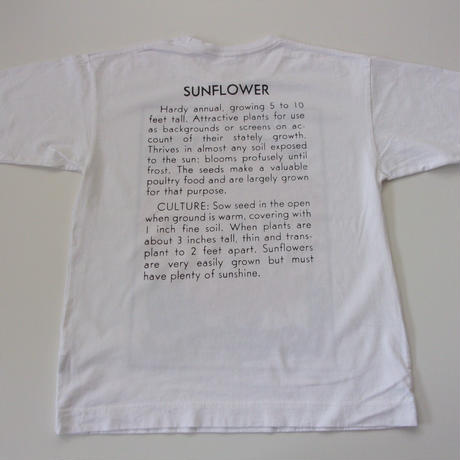 2021 HIGH-SUMMER. Niche.(ニッチ) Flower Seeds T-Shits/ニッチ フラワー Tシャツ/HS21-UTWC-02