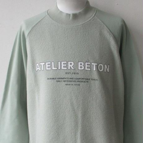【30%OFF】2019-20.AUTUMN/WINTER. ATELIER BETON /アトリエ べトン GLOSSY SWEAT RAGLAN SLEEVE/ラグラン スウェット