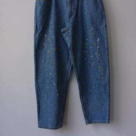 2021SS. Niche./ニッチ #Paint EMB Jeans/S21-igap-31/ニッチ ペイント刺繍 ジーンズ
