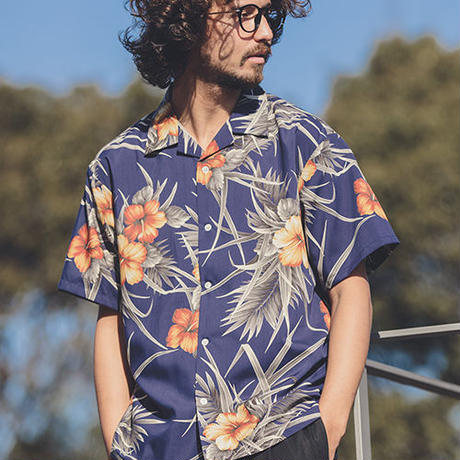 【ANGENEHM(アンゲネーム)】Comfortable Open Color Vintage Aloha Shirts(MADE IN JAPAN) アロハシャツ フラワー