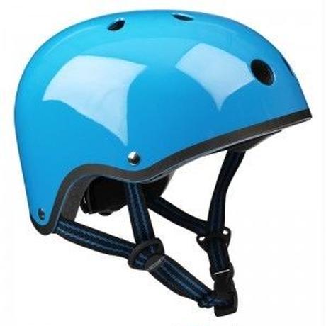 m-cro(マイクロスクーター) ヘルメット (ネオンブルー)(Sサイズ)