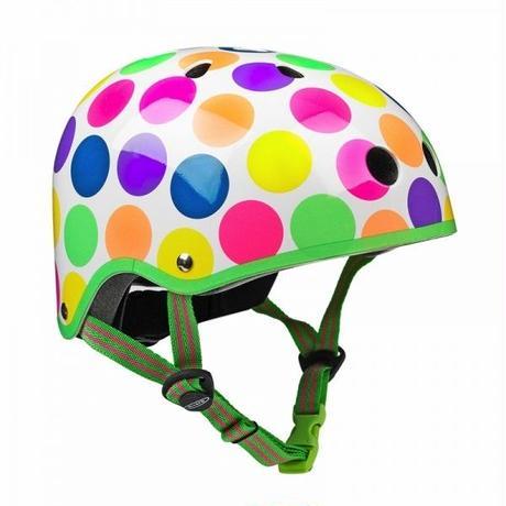 m-cro(マイクロスクーター) ヘルメット(Mサイズ)ネオン水玉