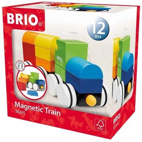 BRIO(ブリオ) マグネット式スタッキングトレイン(白タイヤ)