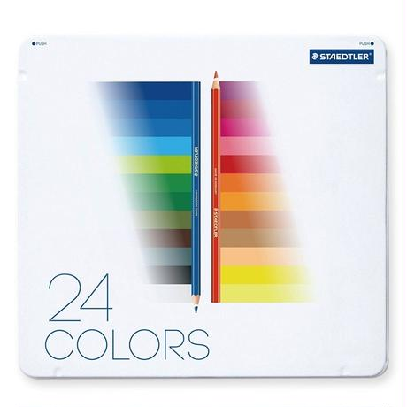 STAEDTLER ノリスクラブ 色えんぴつ メタルケースタイプ 24color