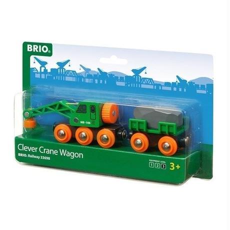BRIO(ブリオ) 緑のクレーンワゴン