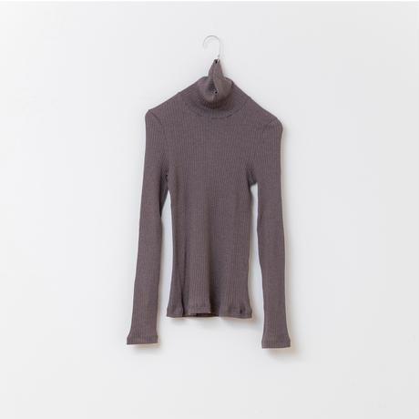CLO159: rib turtle-neck pullover