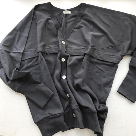 CLO190 : V-neck dolman sleeve cardigan