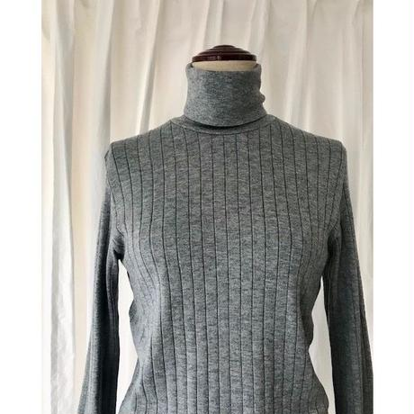 wide rib turtle neck