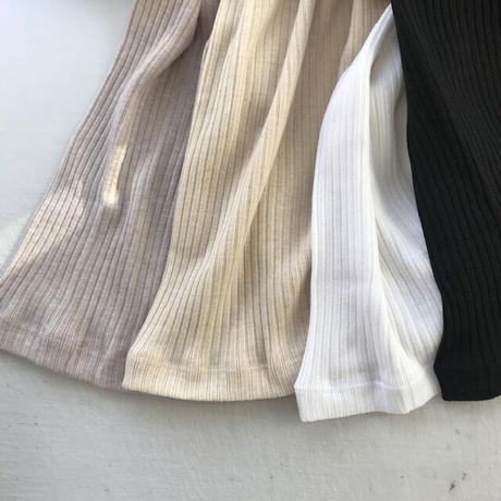 CLO 101 : rib long sleeve tee