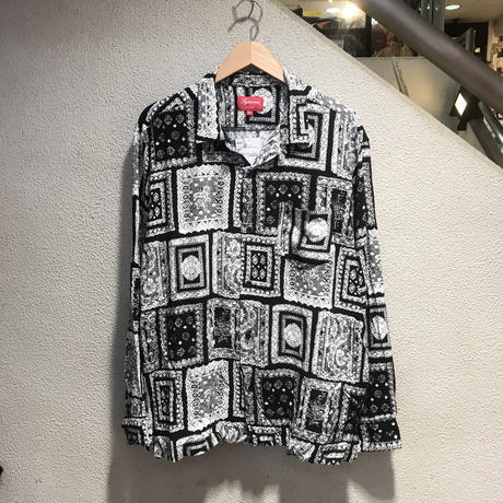 SUPREME / Laces Rayon Shirt 2017S/S