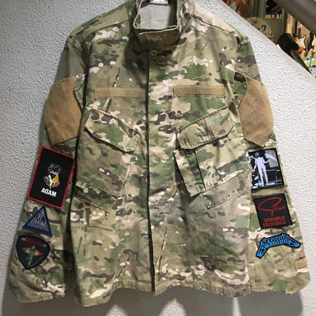 Vintage Band Patch Custom Militarry Jacket size : -- CAMO