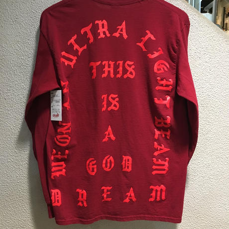 "KANYE WEST ""THE LIFE OF PABLO TOUR"" / I FEEL LIKE PABLO L/S TEE size : M BGD"