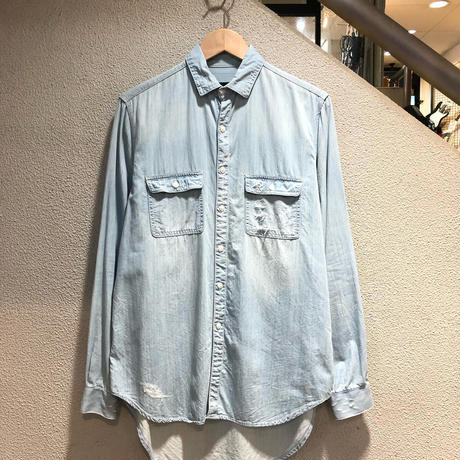 STAMPD / CRUSHED CHAMBRAY SHIRT size:M