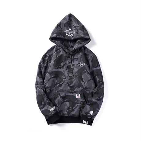 ベイシング エイプ メンズ パーカー トップス AAPE By A Bathing Ape Hoodie With Large Front Pocket Black