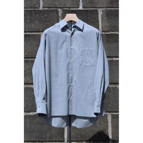 Super 120's Wool Tropical Comfort Fit Shirt / Light Gray
