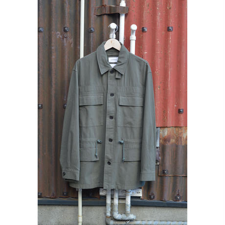 Dobby Cloth Military Jacket /Olive Metal