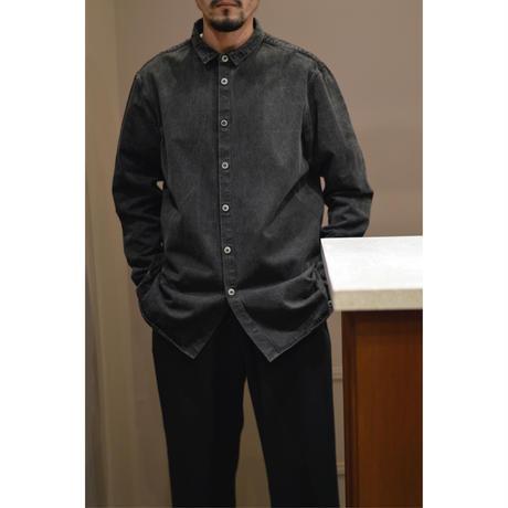 裏絹紬表綿高密度シャツ