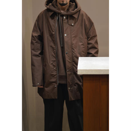 REVERS FLEECE HUGE PARKA / BROWN