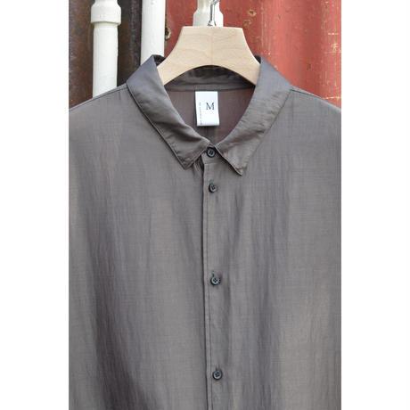 オーバーサイズ6分袖シャツ/ リヨセル・カールマイヤー / Charcoal x Red