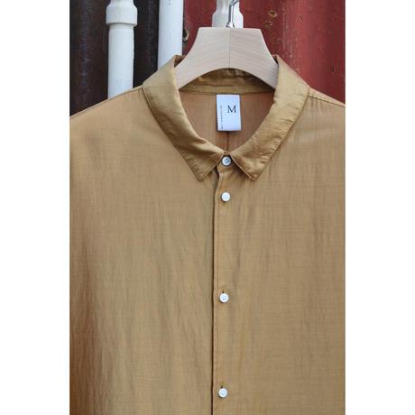 オーバーサイズ6分袖シャツ/ リヨセル・カールマイヤー  / Marigold x Red