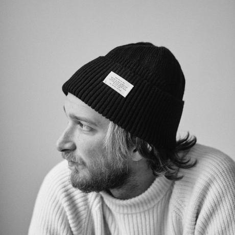 Long rib knit cap