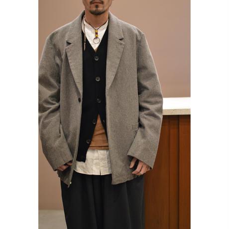 キャメルウールマットウース 裾紐ジャケット