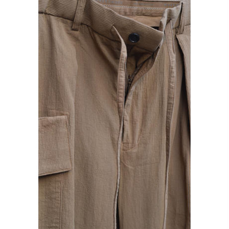 Dobby Cloth Cargo Pants /Olive Brown