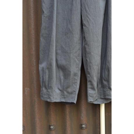裾タックパンツ / COOLMAX ポリエステルリネン