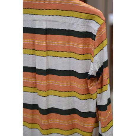 田口さんのマルチボーダーシャツ / Orange x Green