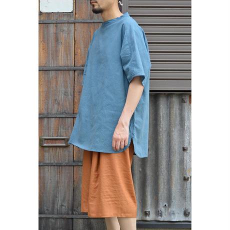竹プルオーバー 小 (草木染)/藍x胡桃