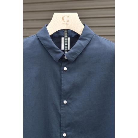 オーバーサイズ6分袖シャツ/ COOLMAX ポリエステルリネン