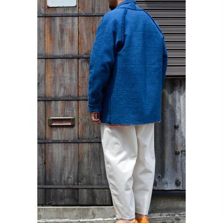 ガラ紡JKT (草木染め)/藍x胡桃