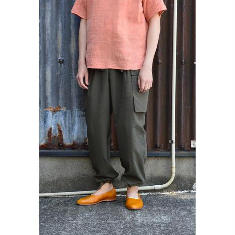 Dobby Cloth Cargo Pants /Olive Metal