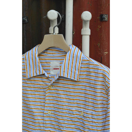 田口さんのオープンカラーシャツ / Yellow border