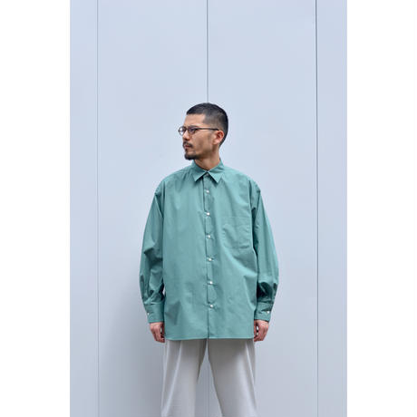 Poplin Comfort Fit Shirts / Blue Green