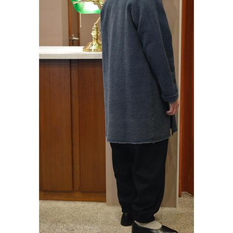 ウールリネン交織タッサー  裾ギャザーパンツ