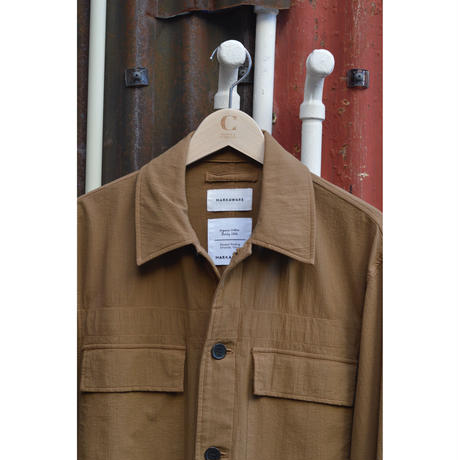 Dobby Cloth Military Jacket /Olive Brown