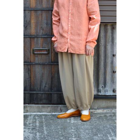 ポリエステルツイル裾ゴムバルーンパンツ  / Sand