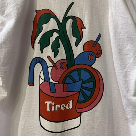 BLOODY TIRED SS TEE <white> 【TIRED】