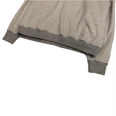KIMONO L/S SWEAT SHIRT <grey> 【着もちいい服】【A.D.A.N】