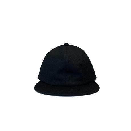 Wool Melton 6P Cap <BLK/SIL> 【bocodeco】【凹凸】
