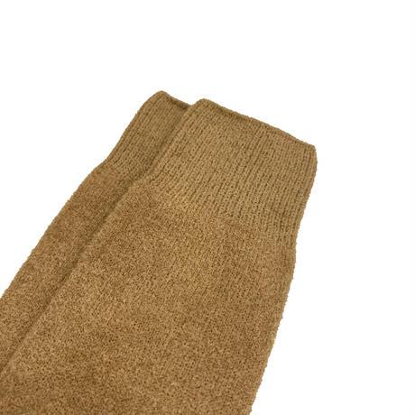 VERY VELOUR SOCKS <beige/black> 【Rototo】