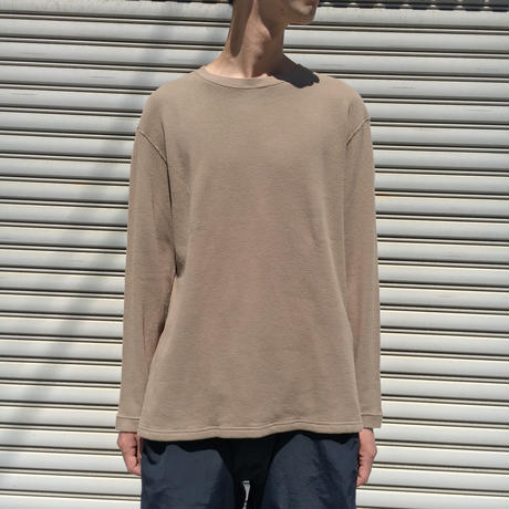 F/W FACE L/S THERMAL T-SHIRT 【 着もちいい服 】 【 A.D.A.N 】